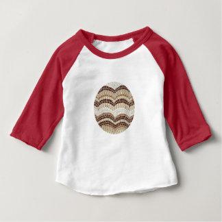 Beige mosaisk babyRaglanT-tröja Tee