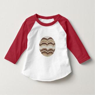 Beige mosaisk småbarnRaglanT-tröja Tee Shirt