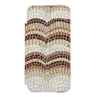 Beige mosaiskt plånbokfodral för iPhone SE/5/5s