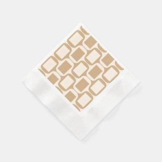 Beige och rektanglar och kurvor för sand färgade pappersservett