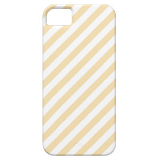 Beige- och vitDiagonalStripes. iPhone 5 Case-Mate Fodral