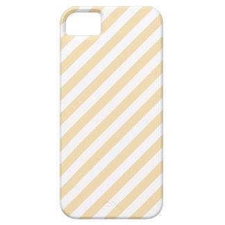 Beige- och vitDiagonalStripes. iPhone 5 Case-Mate Skal