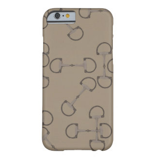 Beige rid- hästbitar barely there iPhone 6 fodral
