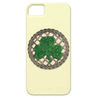 Beige Shamrock och fodral för CelticfnurraiPhone 5 iPhone 5 Skydd