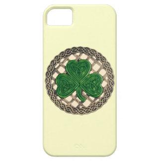 Beige Shamrock och fodral för CelticfnurraiPhone iPhone 5 Hud