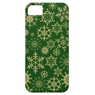 Beige snöflingor iPhone 5 Case-Mate skydd