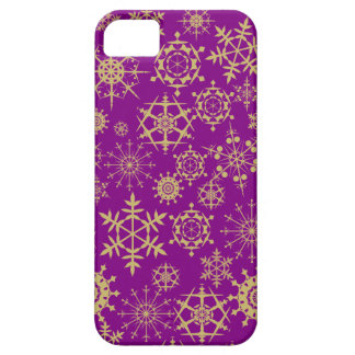 Beige snöflingor iPhone 5 cases