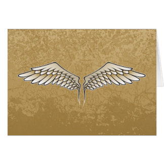 Beige vingar hälsningskort