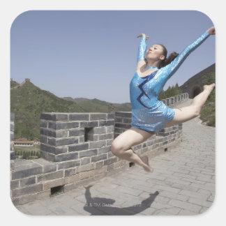 Beijing china, 2007 fyrkantigt klistermärke