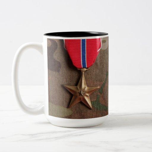 Bekämpa veteran och brons stjärnakaffemuggen kaffe kopp