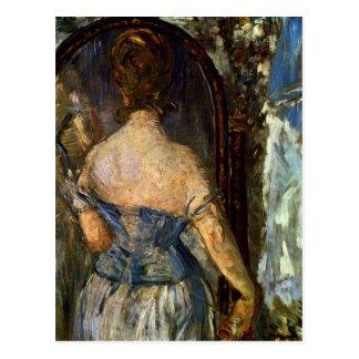 Bekläda av spegeln - Edouard Manet Vykort