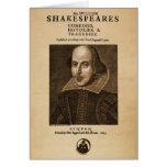 Bekläda biet till Shakespeares första folio Hälsningskort