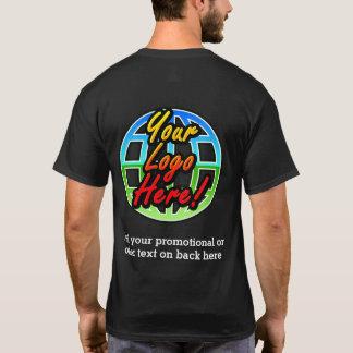 Bekläda/den tillbaka affärslogotypen mörkt tee shirt
