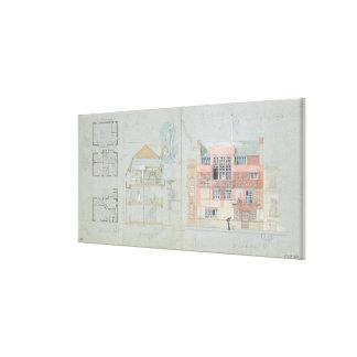 Bekläda höjden och dela upp för hus och studio f canvastryck