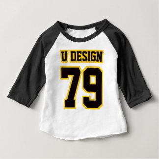 Bekläda VIT SVART GULD 3/4 sleeveRaglan Tee Shirt