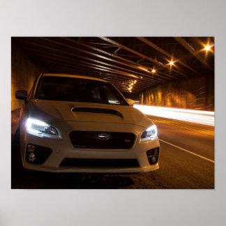 Beklär ljus målning för Subaru STi Poster