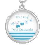 Beklär stolt farmorblått för pojken halsbandet personliga halsband
