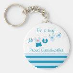 Beklär stolt farmorblått för pojken Keychain Nyckel Ring