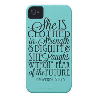 Beklätt i styrka & värdighet iPhone 4 hud