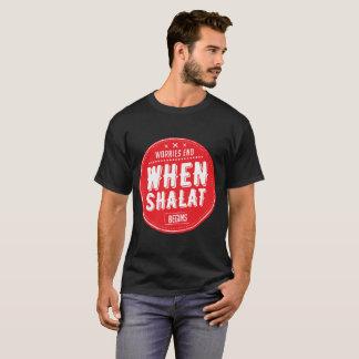 bekymmer avslutar, när shalat börjar tee shirts