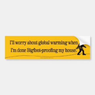 Bekymmer om bildekal för global värme