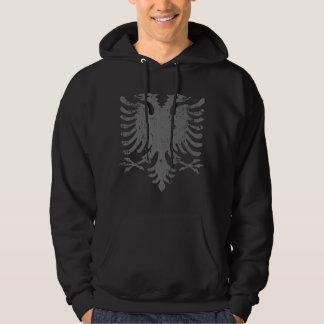 Bekymrad albansk örnvapensköld hoodie