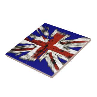 Bekymrad brittisk facklig jack kakelplatta
