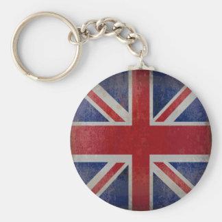 Bekymrad brittisk flagga rund nyckelring
