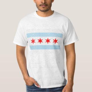 Bekymrad Chicago flagga T Shirt