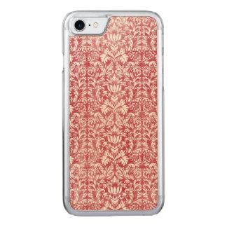 Bekymrad damast för romantiska rosor carved iPhone 7 skal