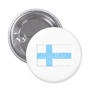 Bekymrad Finland flagga Mini Knapp Rund 3.2 Cm