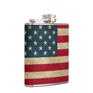Bekymrad Grungeamerikanska flaggan Fickplunta