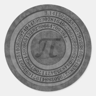 Bekymrad Pi till 125 Runt Klistermärke