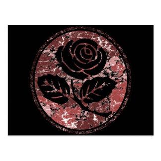 Bekymrad rosa röd SilhouetteCameo - Vykort
