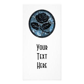 Bekymrad rosa SilhouetteCameo - blått Fotokort