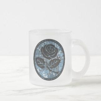 Bekymrad rosa SilhouetteCameo - blått Frostad Glasmugg