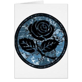 Bekymrad rosa SilhouetteCameo - blått Hälsningskort