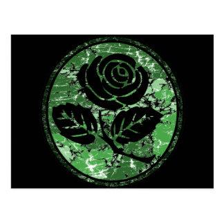 Bekymrad rosa SilhouetteCameo - grönt Vykort