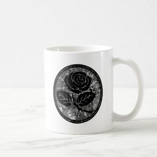 Bekymrad rosa SilhouetteCameo - svart & grå färg Kaffemugg