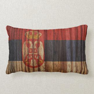 Bekymrad Serbia flagga Lumbarkudde