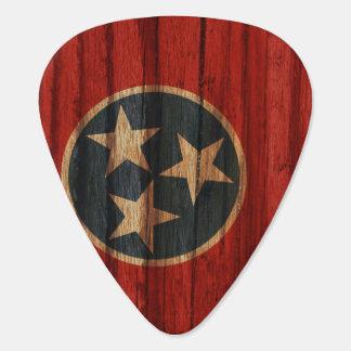 Bekymrad Tennessee flagga Plektrum