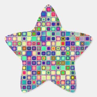 """Bekymrade mångfärgade """"gelékarameller belägger med stjärnformat klistermärke"""