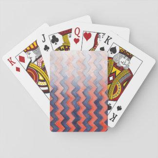 Bekymrade sparrar åt sidan för orange & för blått spelkort