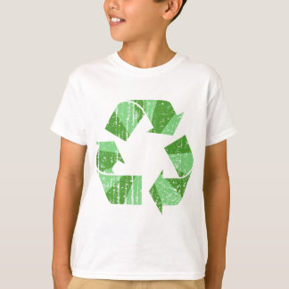 Bekymrat återvinnasymbol t-shirts