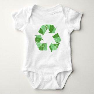 Bekymrat återvinnasymbol tshirts