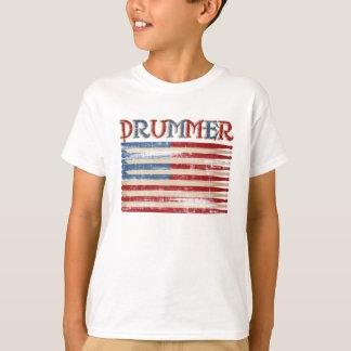 Bekymrat trumma gåvor för utslagsplatser för tee shirts