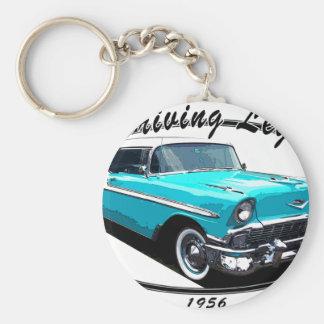 BEL AIR BLÅTT 1956 NYCKEL RING