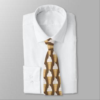 Belagd med tegel mönstertie för vanilj glass slips