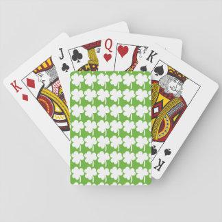 Belagd med tegel Shamrock som leker kort Spel Kort