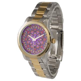 Belägga med tegel kvinna för stilmönstervintage armbandsur